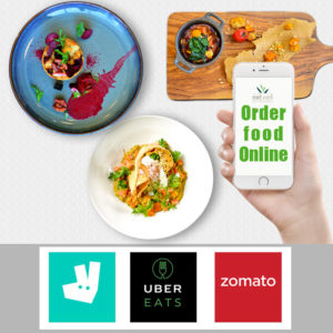 Place your order via Deliveroo, UberEats and Zomato.
