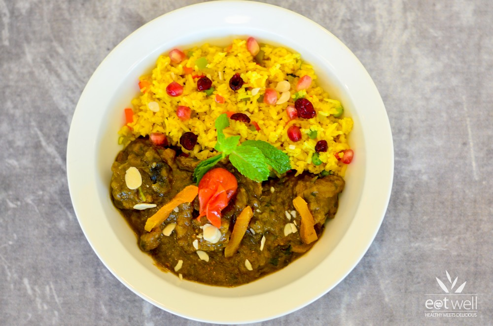 Moroccan Lamb Tagine With Pilaf Rice