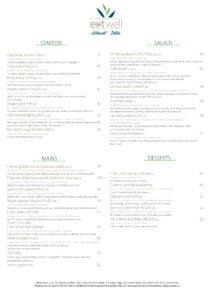 Eat well summer all day menu